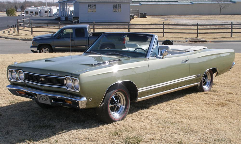 1968 PLYMOUTH GTX CONVERTIBLE - Front 3/4 - 40084