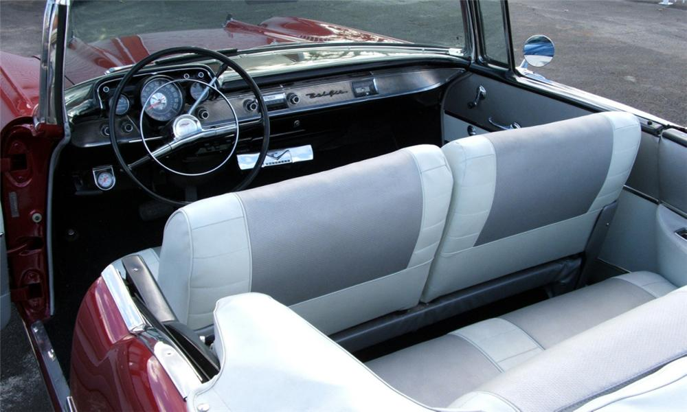 1957 CHEVROLET BEL AIR CUSTOM CONVERTIBLE - Interior - 40086