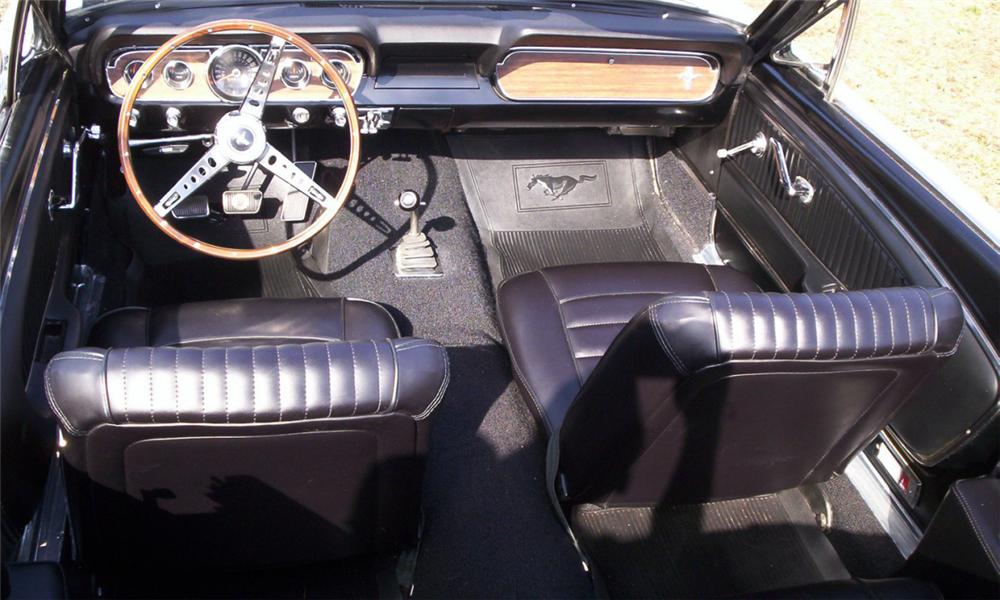 "1966 FORD MUSTANG GT ""K"" CODE CONVERTIBLE - Interior - 40109"