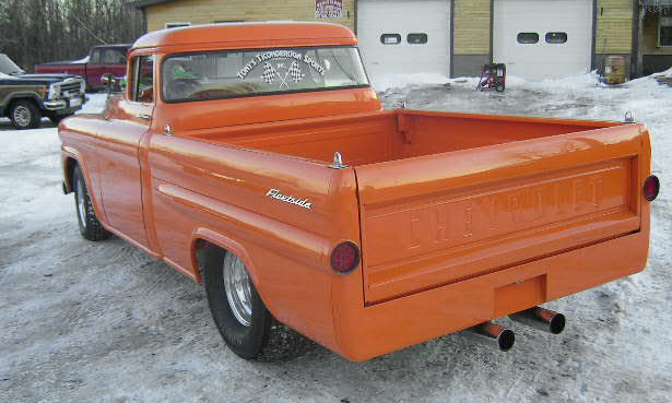 1959 CHEVROLET APACHE CUSTOM PICKUP - Rear 3/4 - 40111