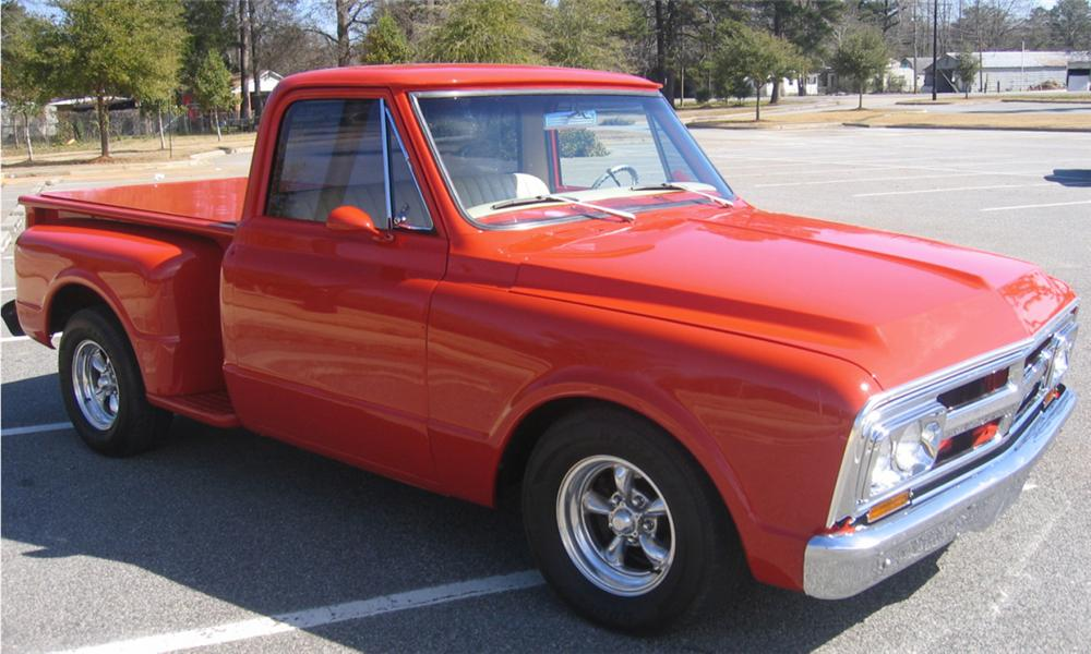 1968 GMC SHORT BED PICKUP - Front 3/4 - 40122