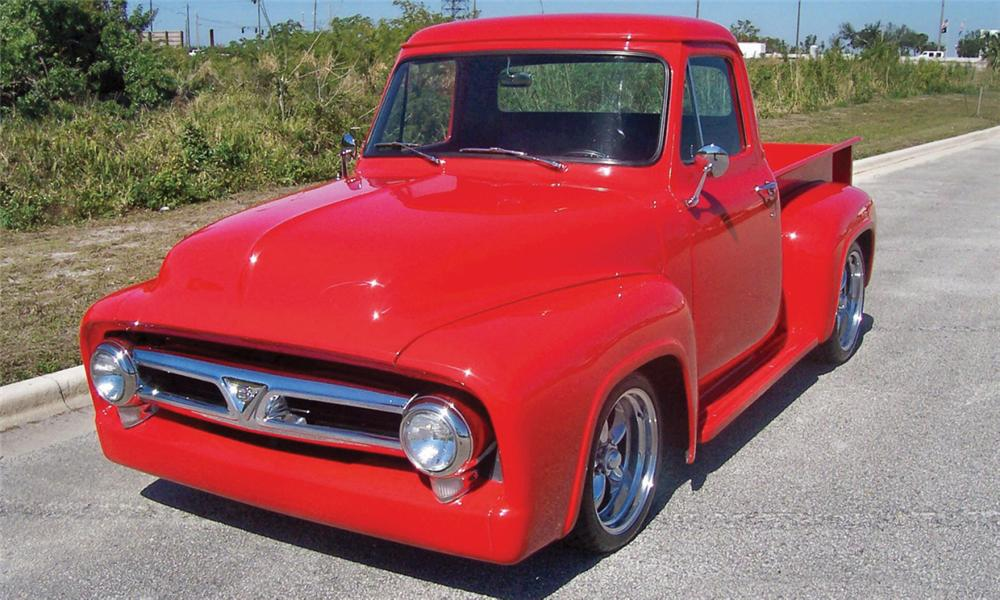 1955 FORD F-100 CUSTOM PICKUP - Front 3/4 - 40127