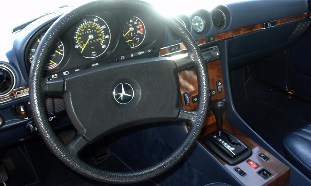 1985 MERCEDES-BENZ 380SL CONVERTIBLE - Interior - 40141
