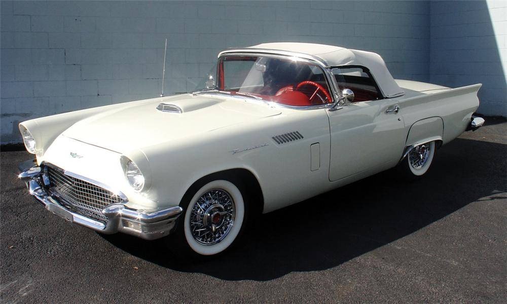 1957 FORD THUNDERBIRD 2 DOOR CONVERTIBLE - Front 3/4 - 40145