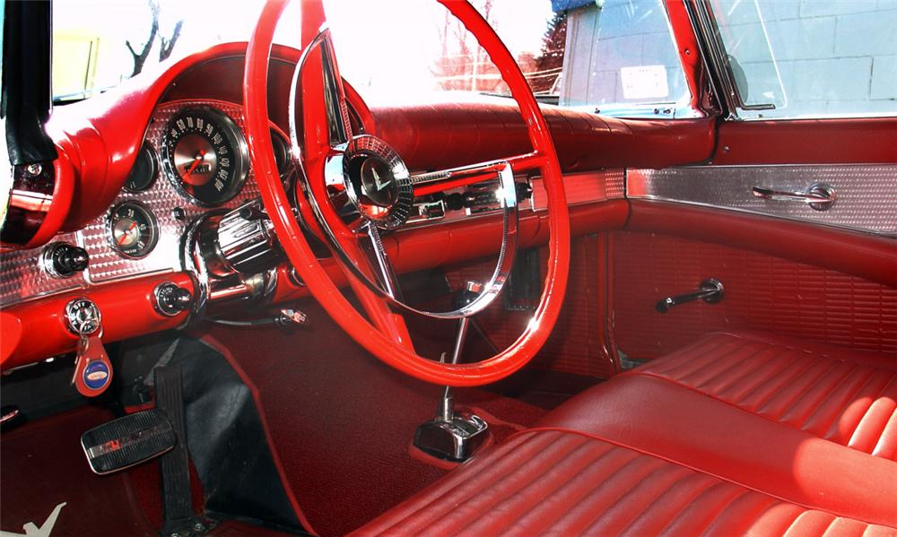 1957 FORD THUNDERBIRD 2 DOOR CONVERTIBLE - Interior - 40145