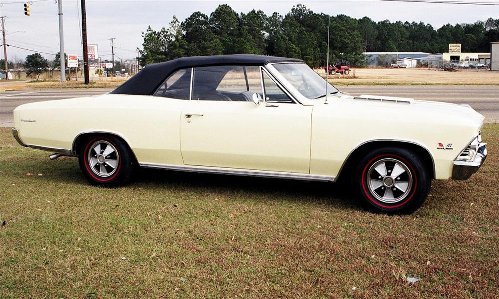 1966 CHEVROLET CHEVELLE SS 396 325HP 4-SPEED - Side Profile - 40150
