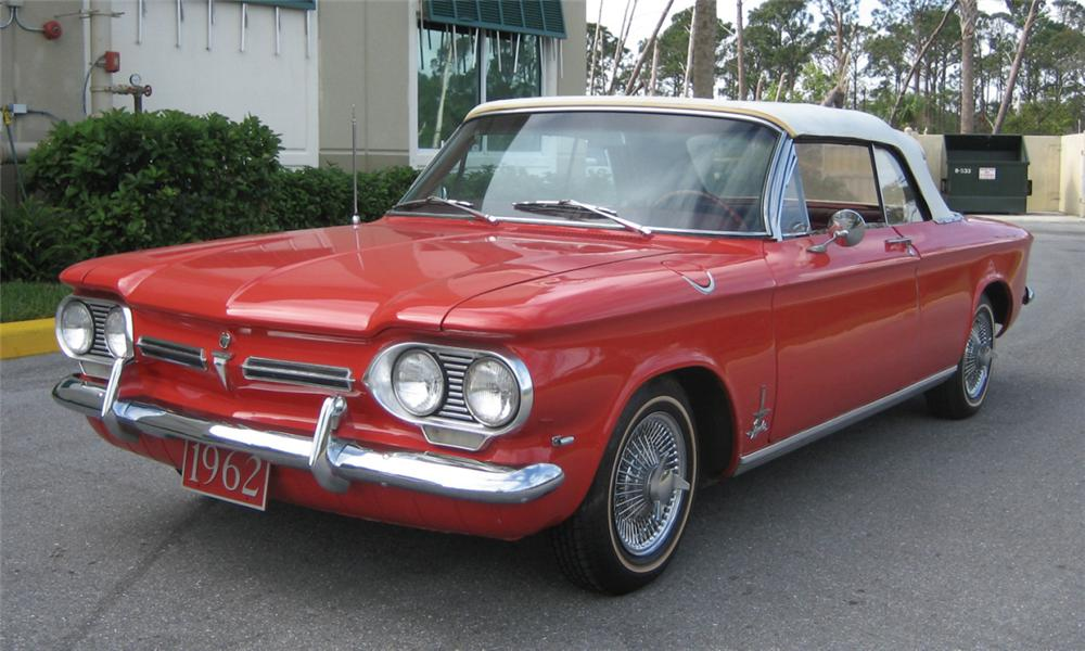 1962 CHEVROLET CORVAIR CONVERTIBLE - Front 3/4 - 40222