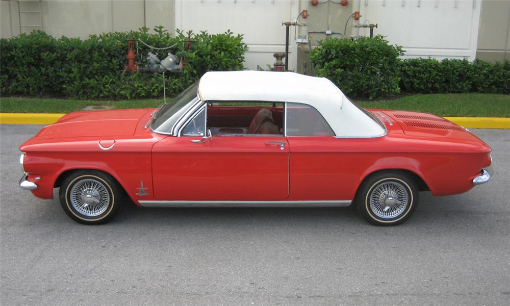 1962 CHEVROLET CORVAIR CONVERTIBLE - Side Profile - 40222