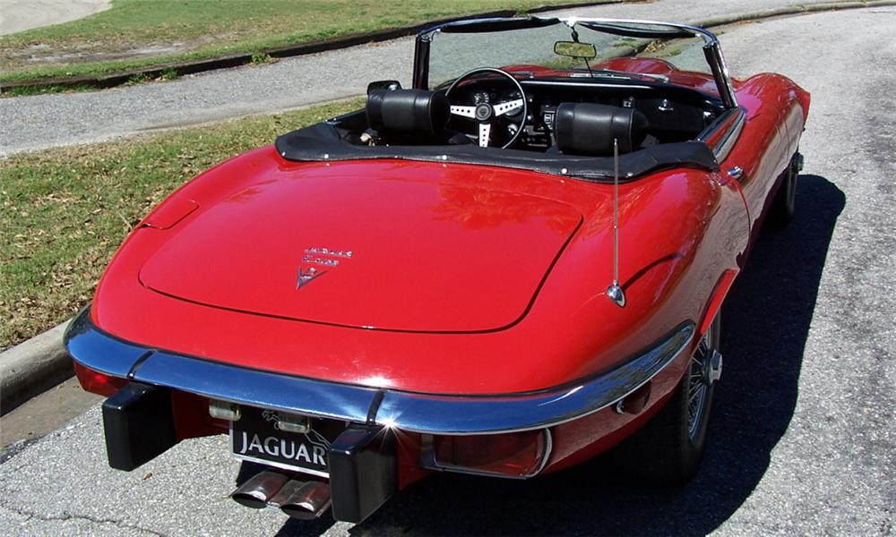 1974 JAGUAR XKE CONVERTIBLE - Rear 3/4 - 40223
