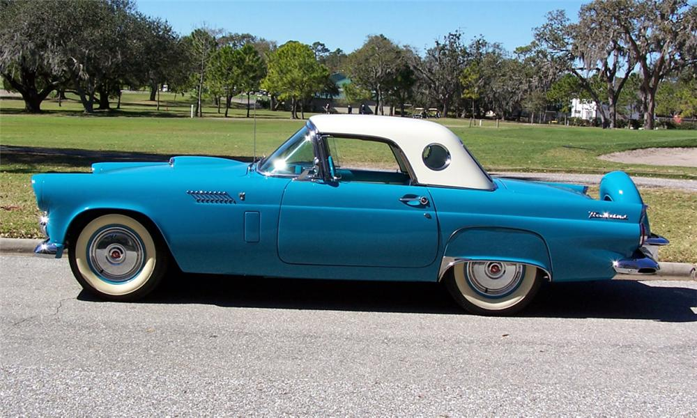 1956 FORD THUNDERBIRD CONVERTIBLE - Side Profile - 40224