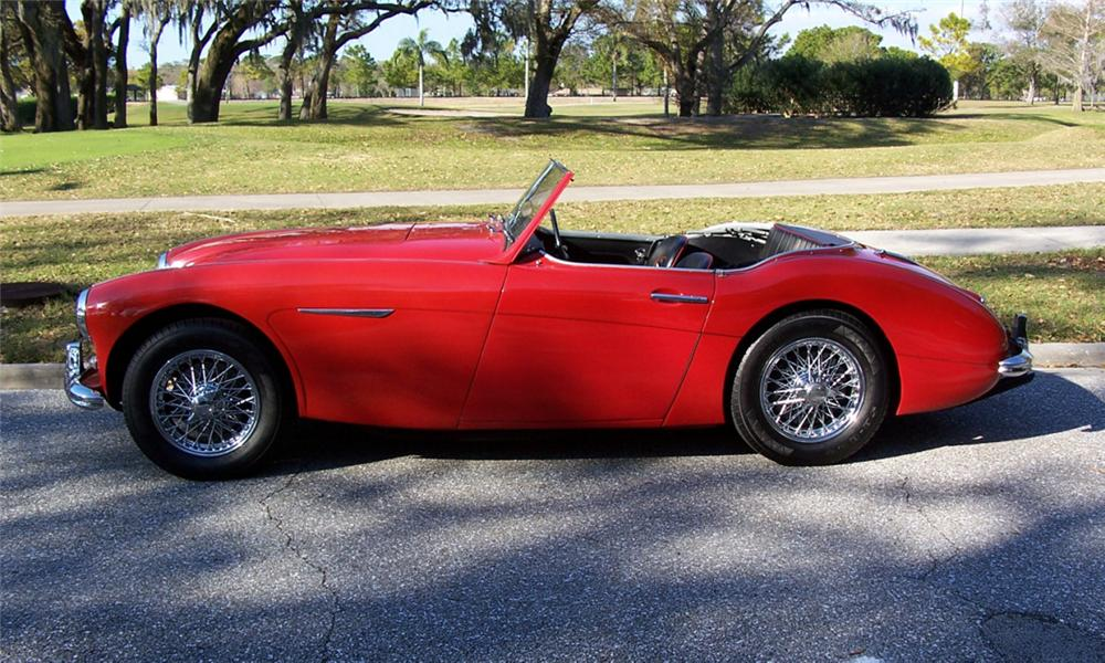 1961 AUSTIN-HEALEY 3000 MARK I CONVERTIBLE - Side Profile - 40225