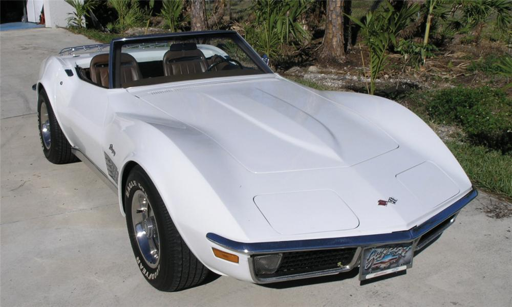1971 CHEVROLET CORVETTE CONVERTIBLE - Front 3/4 - 40227