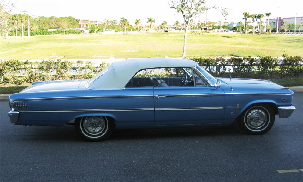 1963 FORD GALAXIE 500 XL CONVERTIBLE - Side Profile - 40231