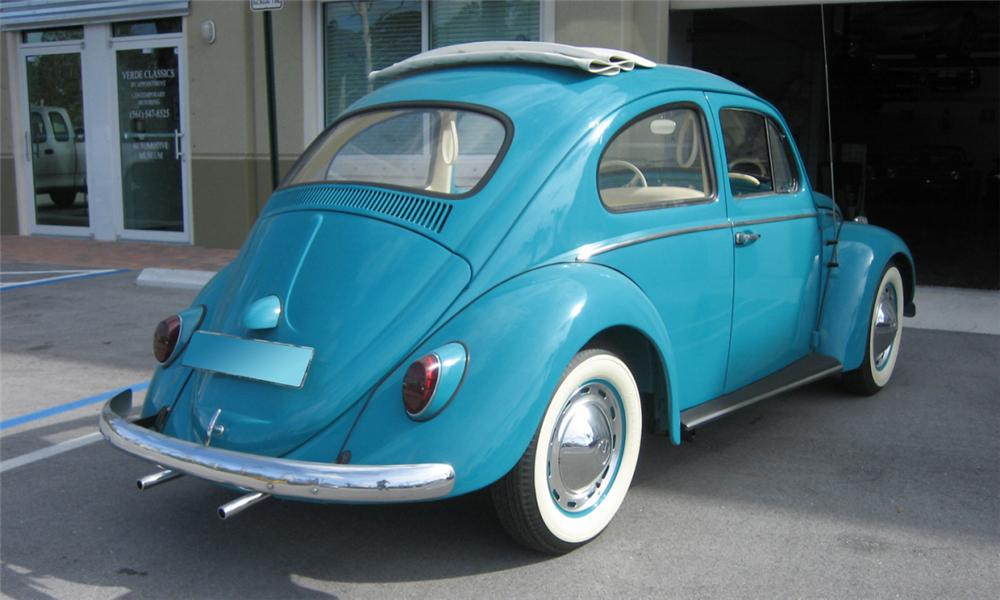 1962 VOLKSWAGEN BEETLE COUPE - Rear 3/4 - 40232