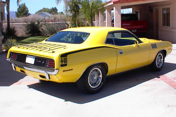 1970 PLYMOUTH 2 DOOR HARDTOP - Rear 3/4 - 43050