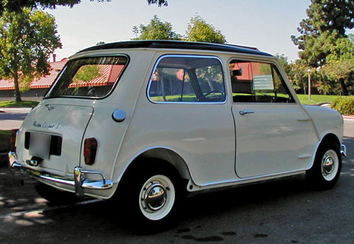 1966 AUSTIN MINI COOPER S 2 DOOR SEDAN - Rear 3/4 - 43241
