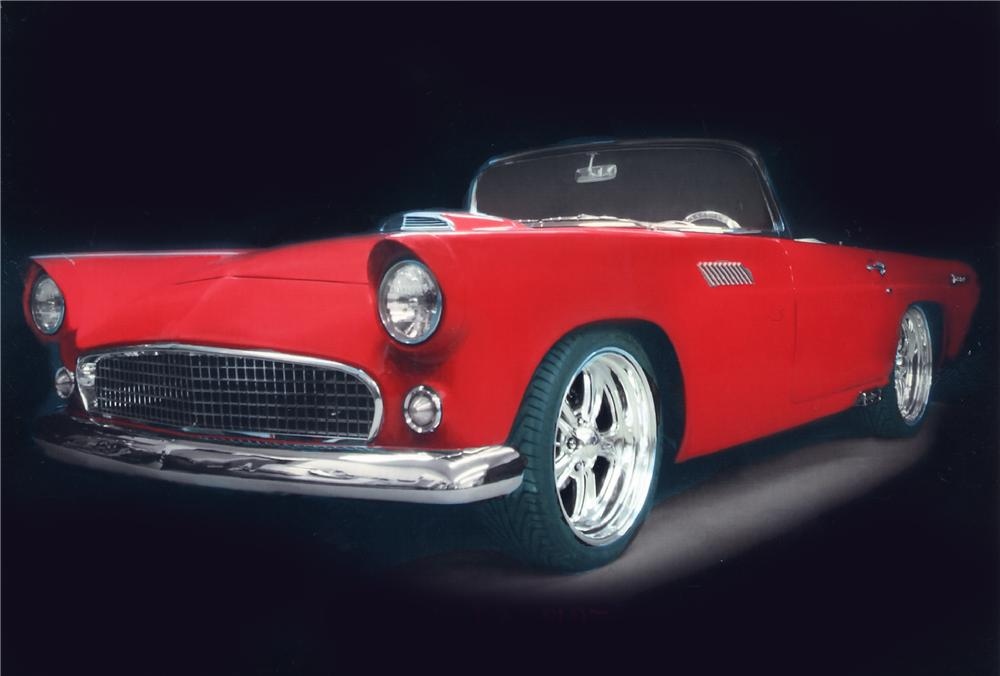 1955 FORD THUNDERBIRD CUSTOM CONVERTIBLE - Front 3/4 - 43247