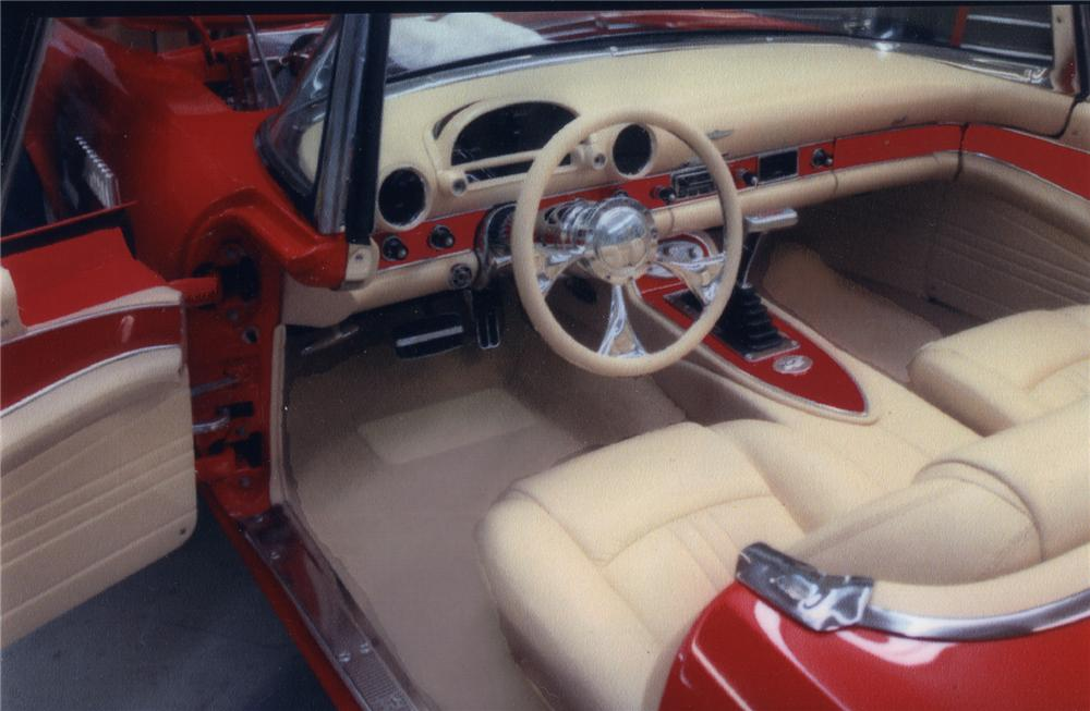 1955 FORD THUNDERBIRD CUSTOM CONVERTIBLE - Interior - 43247