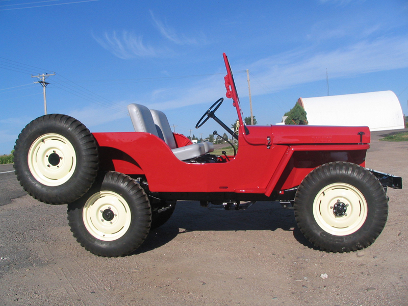 1948 WILLYS JEEP CJ2A   - Side Profile - 43248