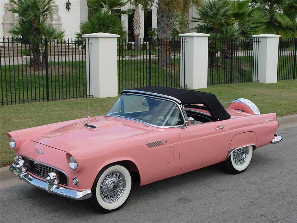 1956 FORD THUNDERBIRD CONVERTIBLE - Front 3/4 - 43251