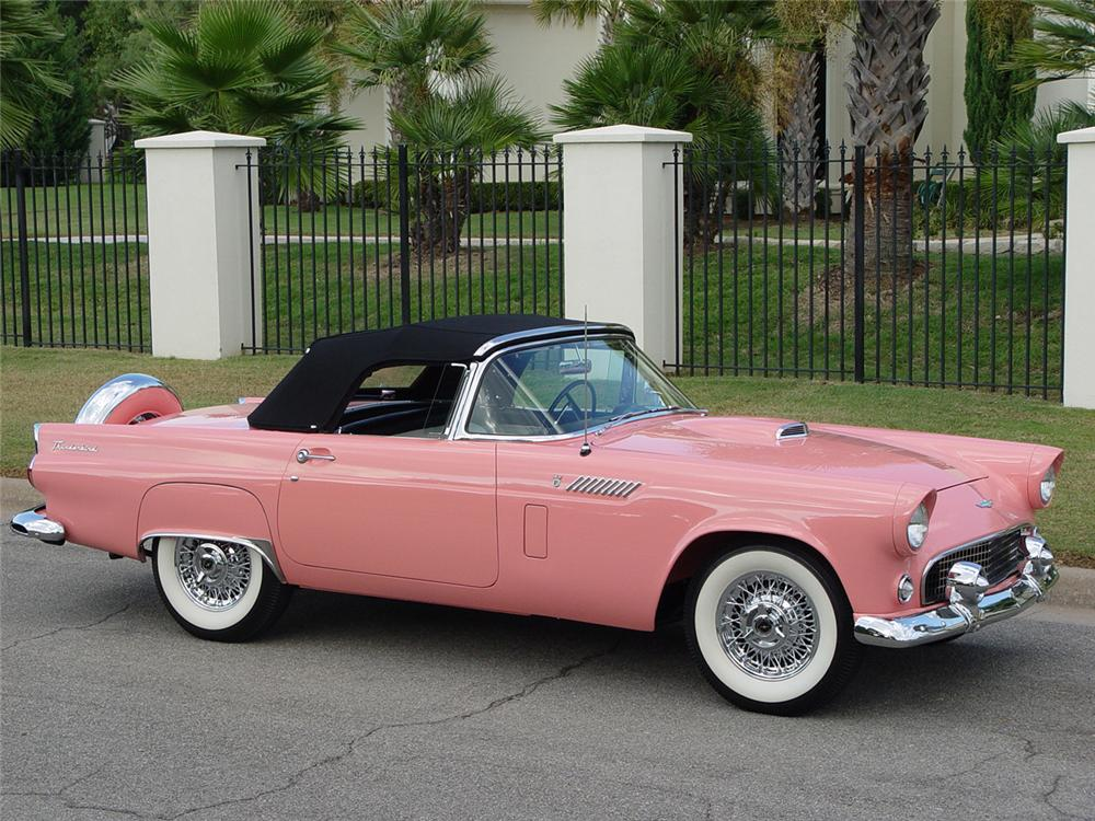 1956 FORD THUNDERBIRD CONVERTIBLE - Side Profile - 43251