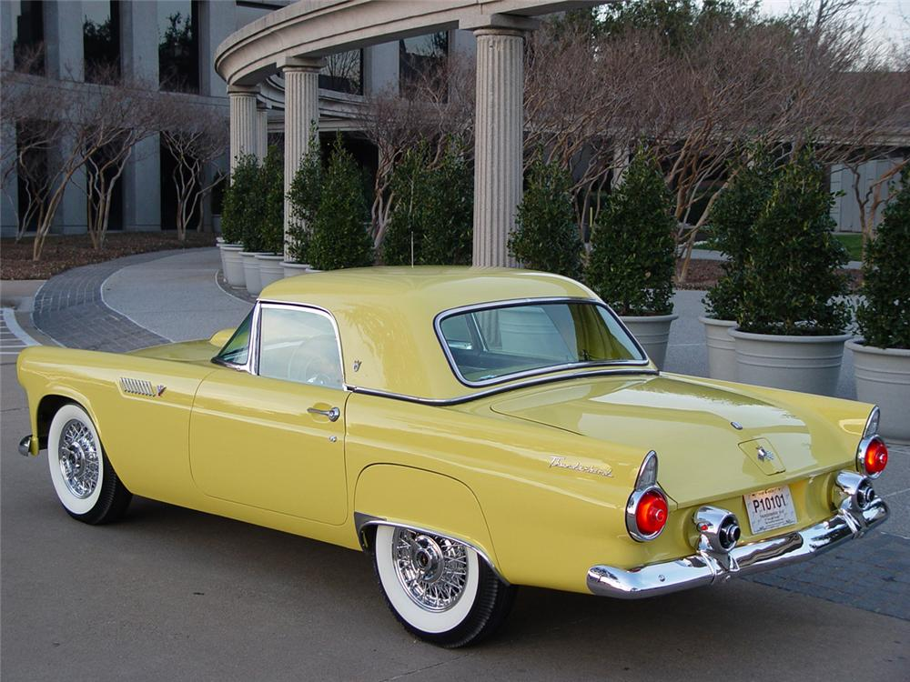 1955 FORD THUNDERBIRD CONVERTIBLE - Rear 3/4 - 43253