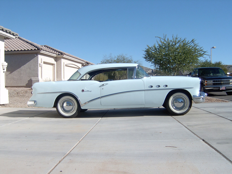 1954 BUICK CENTURY 2 DOOR HARDTOP - Side Profile - 43257