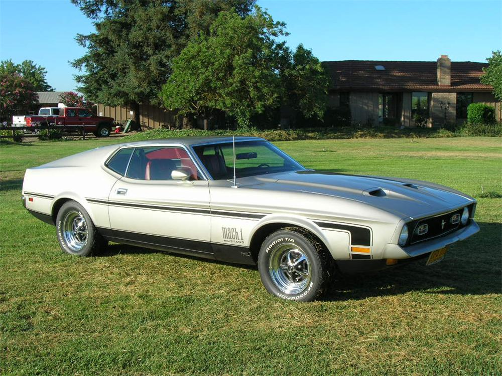 1972 FORD MUSTANG MACH 1 FASTBACK - Side Profile - 43261