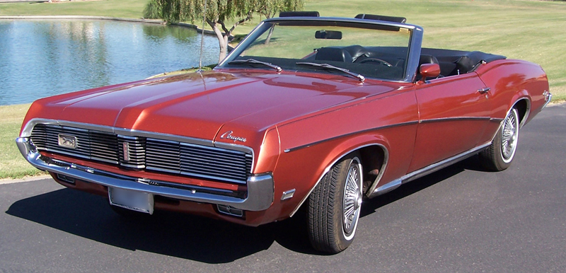 1969 MERCURY COUGAR CONVERTIBLE - Front 3/4 - 43268
