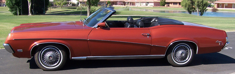 1969 MERCURY COUGAR CONVERTIBLE - Side Profile - 43268