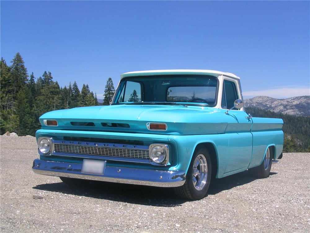 1966 CHEVROLET FLEETSIDE CUSTOM PICKUP - Front 3/4 - 43269