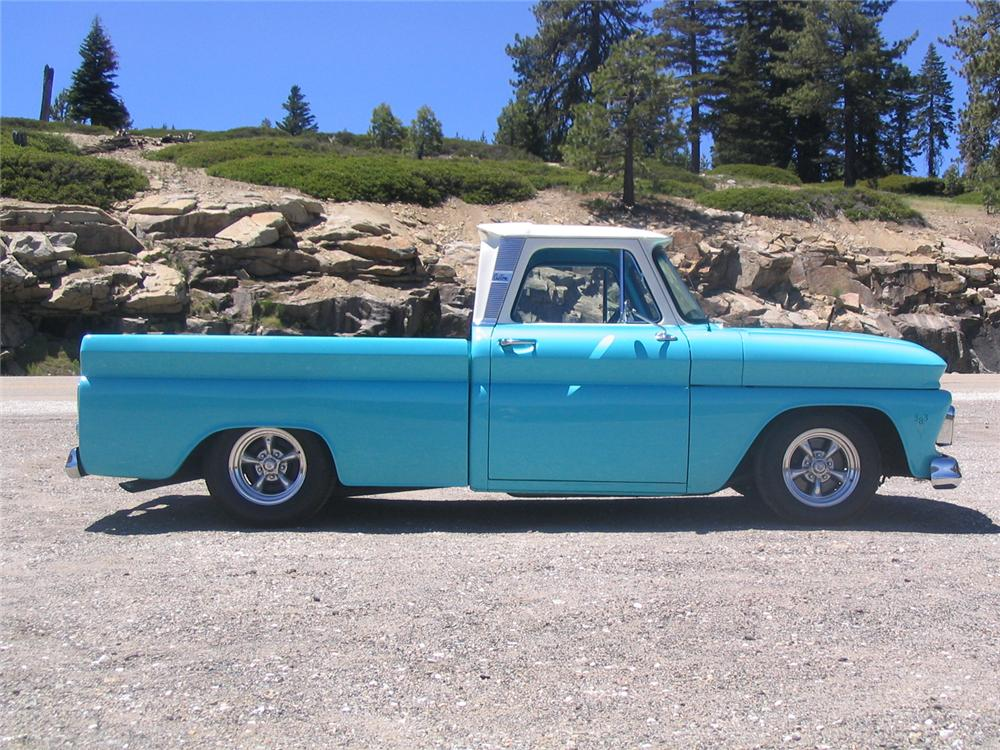 1966 CHEVROLET FLEETSIDE CUSTOM PICKUP - Side Profile - 43269
