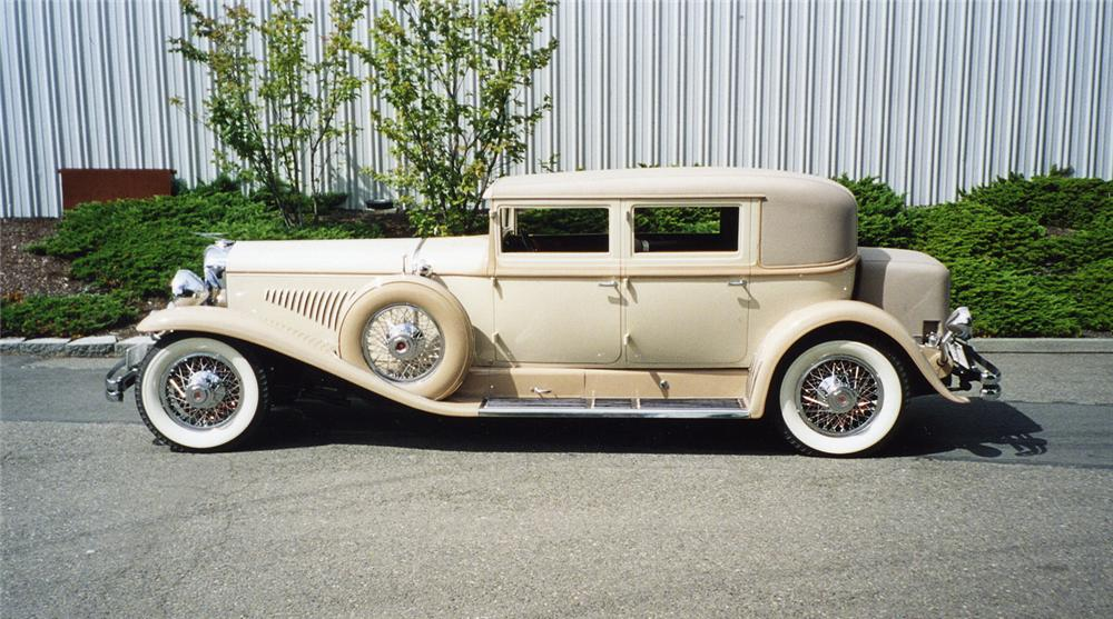 1930 DUESENBERG J ARLINGTON SEDAN - Side Profile - 43271