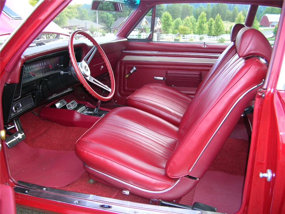 1969 CHEVROLET NOVA SS 2 DOOR COUPE - Interior - 43274