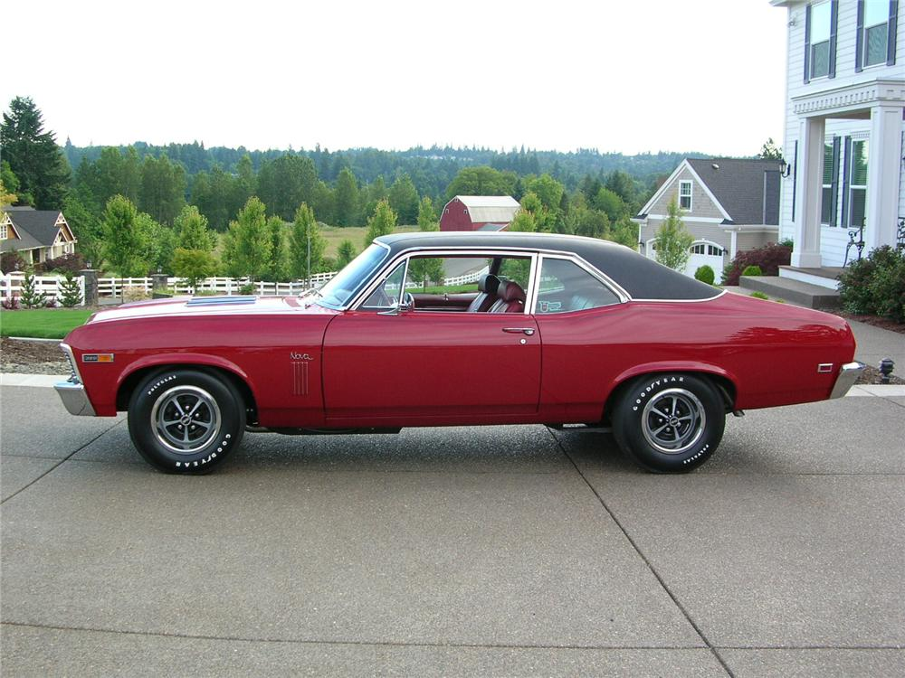 1969 CHEVROLET NOVA SS 2 DOOR COUPE - Side Profile - 43274
