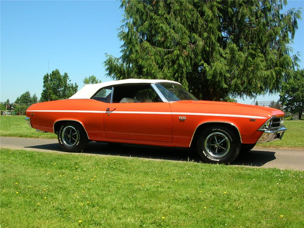 1969 CHEVROLET CHEVELLE SS 396 CONVERTIBLE - Side Profile - 43276