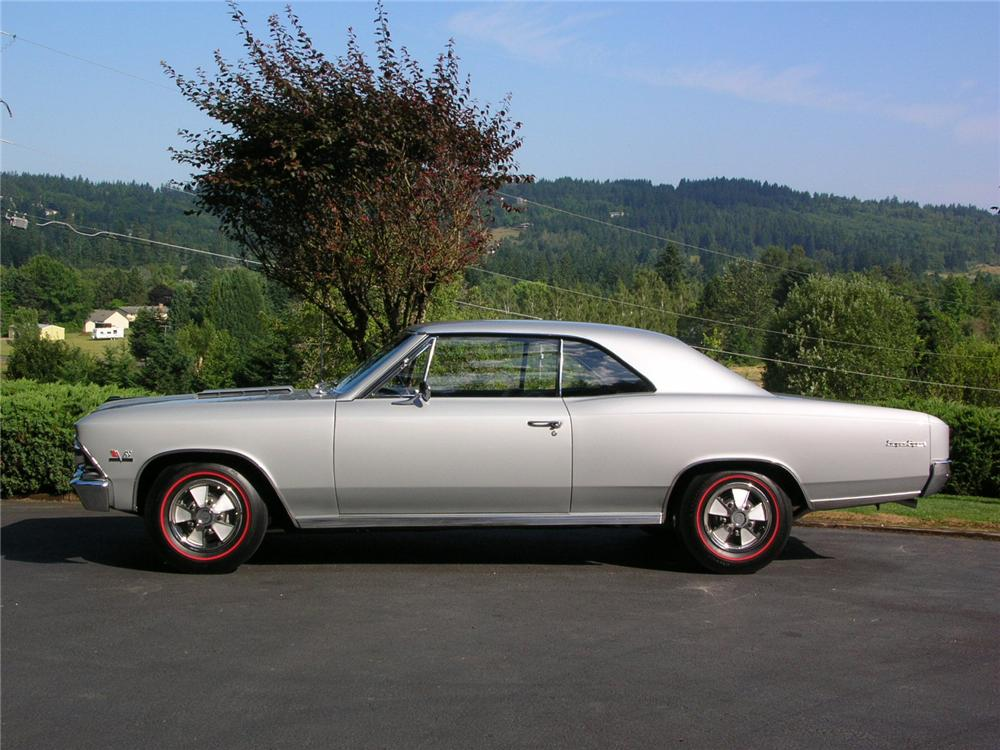 1966 CHEVROLET CHEVELLE SS 396 2 DOOR HARDTOP - Side Profile - 43277