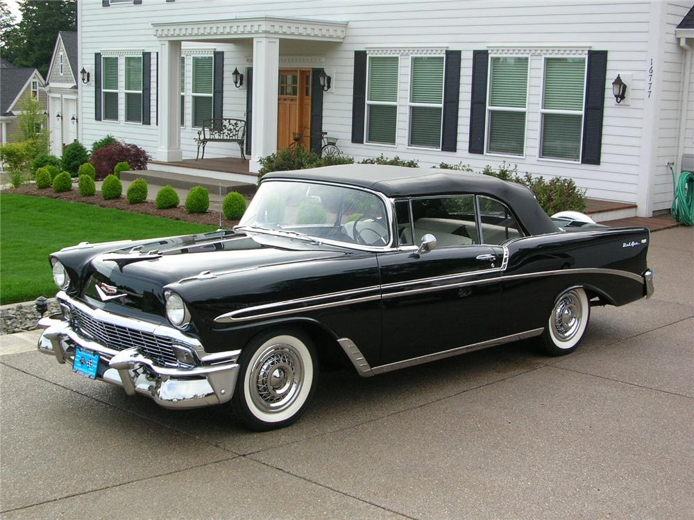 1956 chevrolet bel air convertible 43280. Black Bedroom Furniture Sets. Home Design Ideas