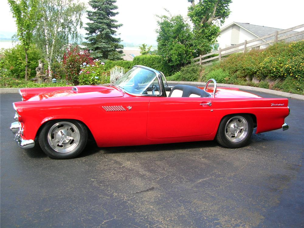 1955 FORD THUNDERBIRD RESTO-MOD - Side Profile - 43288