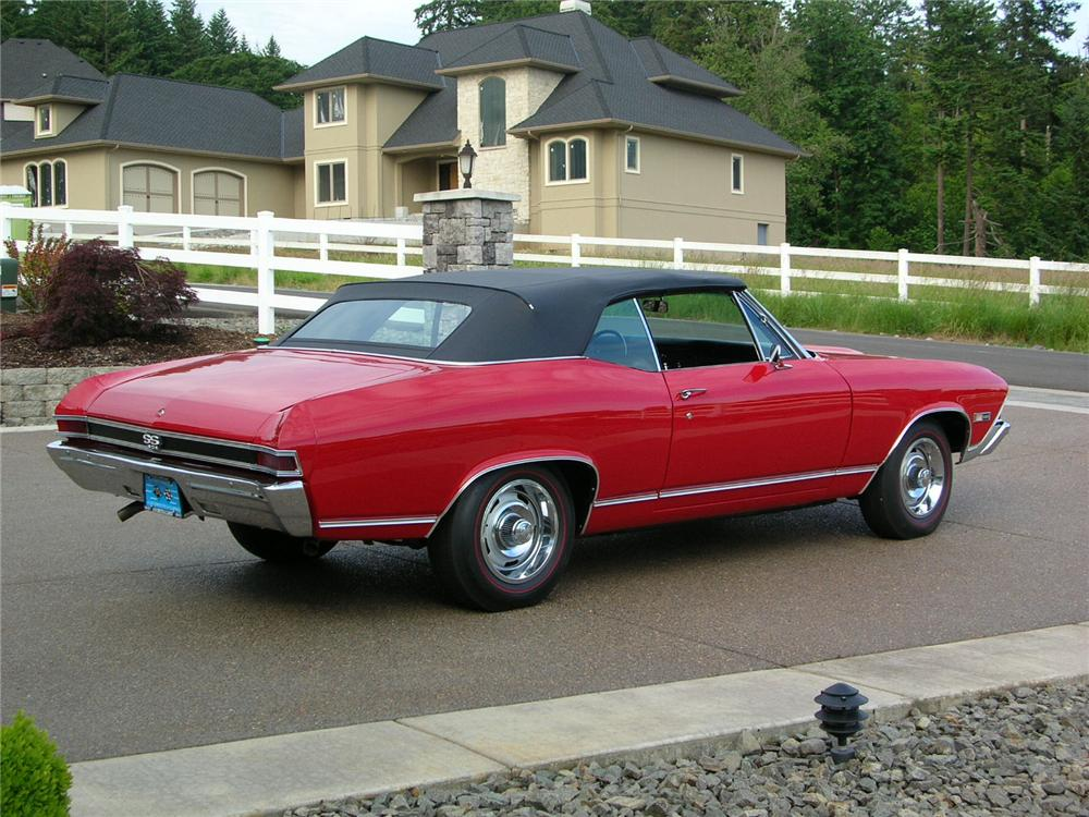 1968 CHEVROLET CHEVELLE SS 396 CONVERTIBLE - Rear 3/4 - 43289