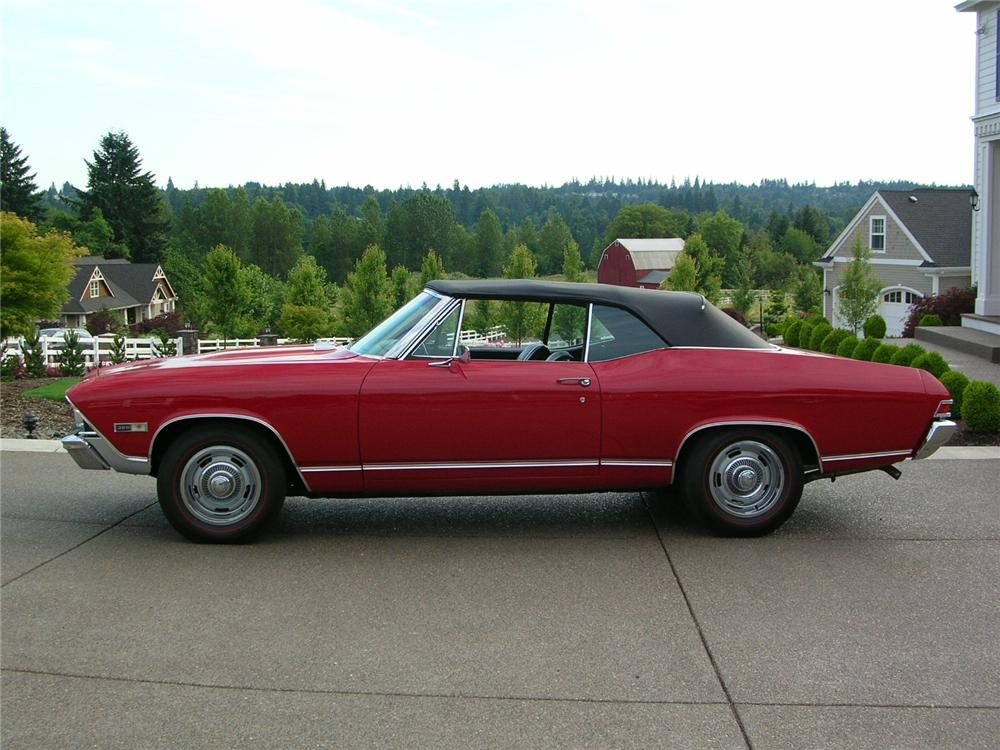 1968 CHEVROLET CHEVELLE SS 396 CONVERTIBLE - Side Profile - 43289