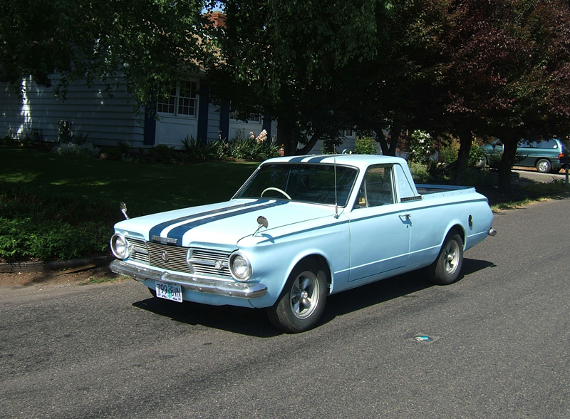 1964 CHRYSLER VALIANT PICKUP - Front 3/4 - 43296