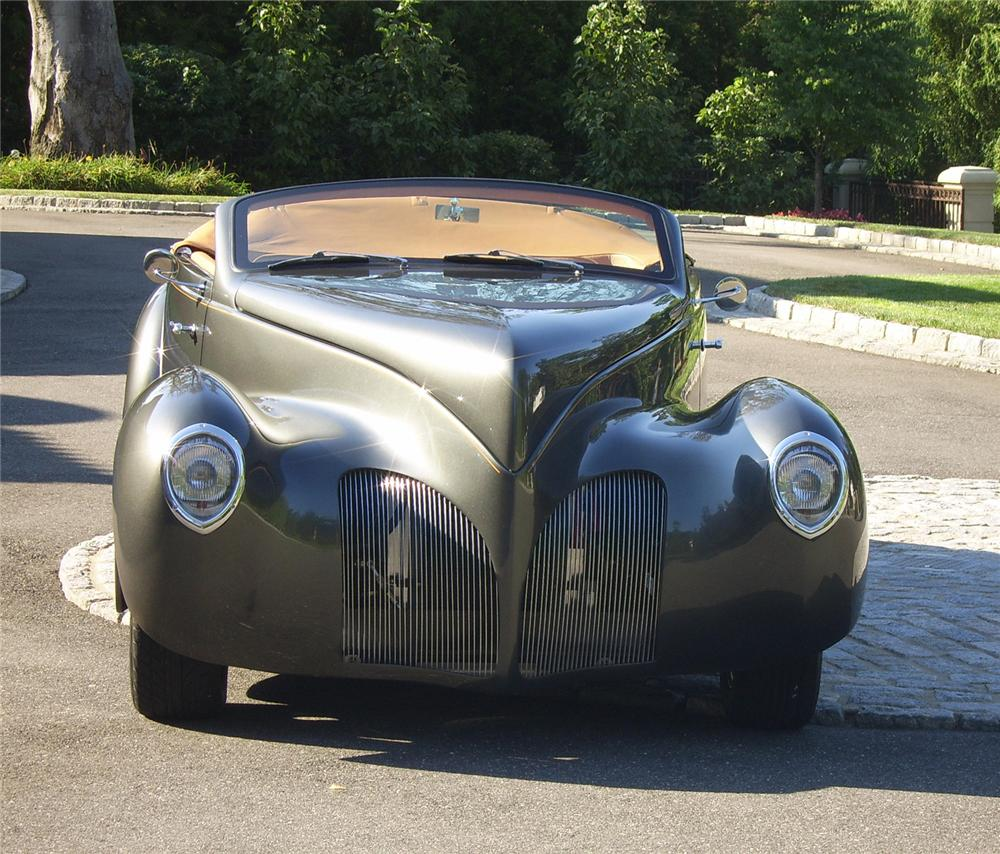 1939 LINCOLN ZEPHYR CONVERTIBLE RE-CREATION - Front 3/4 - 43311