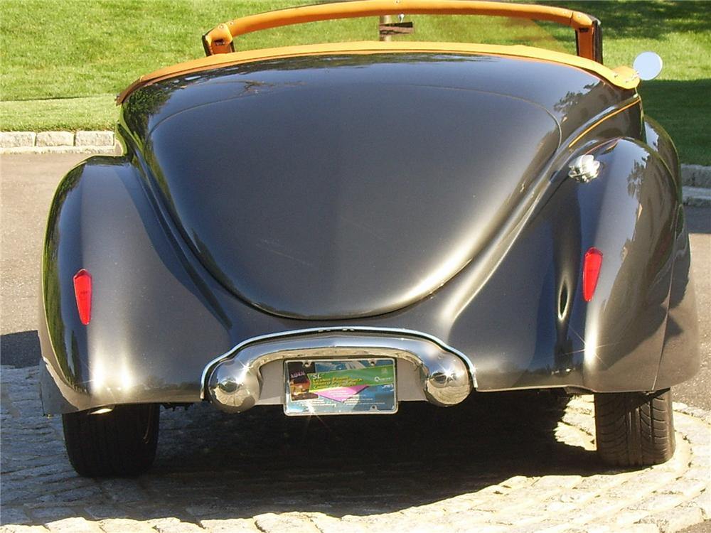 1939 LINCOLN ZEPHYR CONVERTIBLE RE-CREATION - Rear 3/4 - 43311