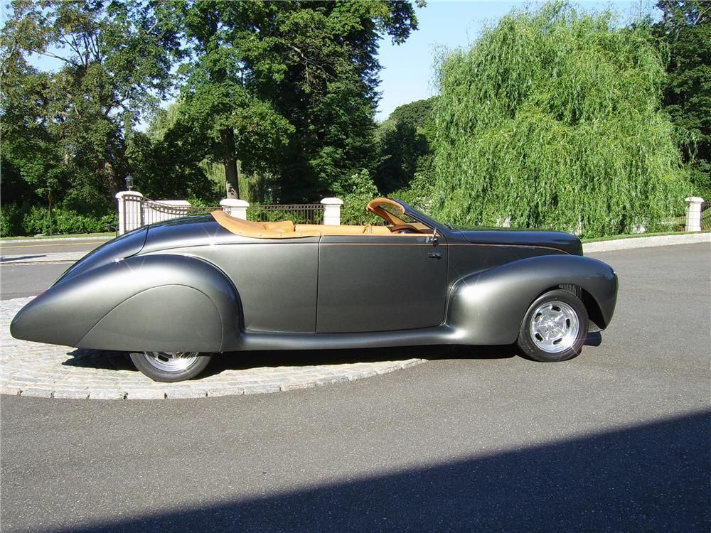 1939 LINCOLN ZEPHYR CONVERTIBLE RE-CREATION - Side Profile - 43311