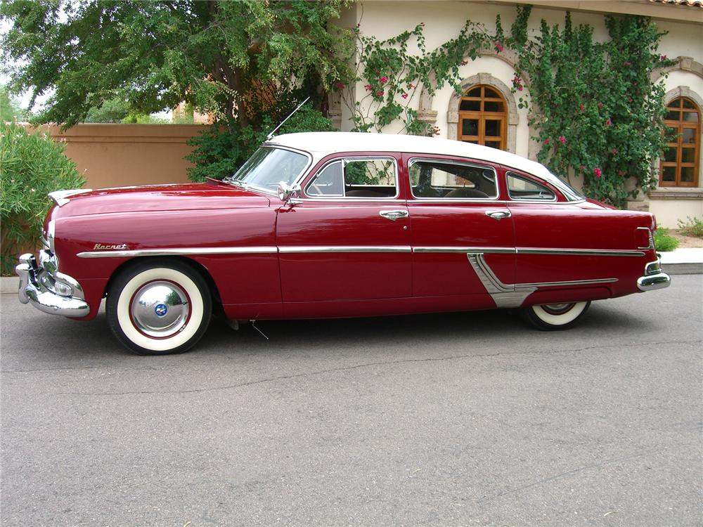 1954 HUDSON HORNET 4 DOOR SEDAN - Side Profile - 43319