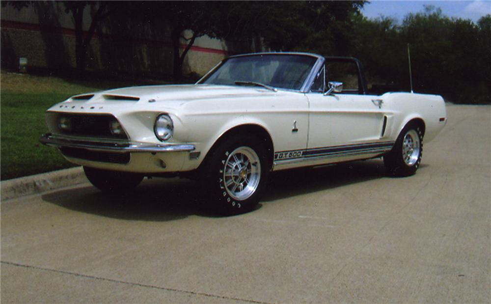 1968 SHELBY GT500 CONVERTIBLE - Front 3/4 - 43321