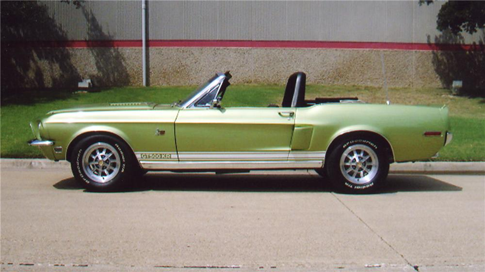 1968 SHELBY GT500 KR CONVERTIBLE - Side Profile - 43322