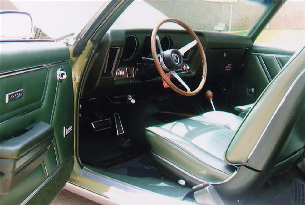 1969 PONTIAC GTO JUDGE CONVERTIBLE - Interior - 43324
