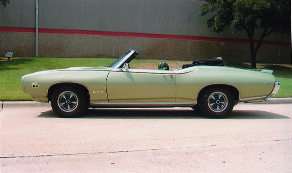 1969 PONTIAC GTO JUDGE CONVERTIBLE - Side Profile - 43324